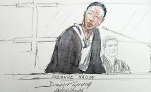 Croquis d'assises de Fabienne Kabou lors de son procès à Saint-Omer, le 20 juin 2016