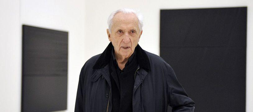 Pierre Soulages lors du musée qui porte son nom, à Rodez, en mai 2014.
