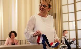La maire de Rennes Nathalie Appéré, ici lors de son élection au conseil municipal, le 3 juillet 2020.
