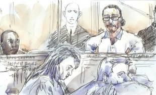 """Jawad Bendaoud au premier jour de son procès pour """"recel de malfaiteurs"""", le 24 janvier 2018."""