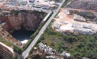 Une route s'est effondrée près d'une carrière de marbre dans la région de Borba, au Portugal. (Illustration)