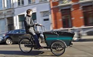 Un triporteur peut transporter jusqu'à 200 kg (illustration).