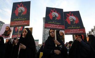 Manifestation de femmes iraniennes, le 4 janvier 2016 à Téhéran après l'exécution par l'Arabie Saoudite d'un dignitaire chiite