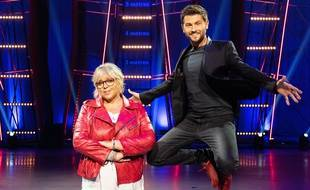 Laurence Boccolini et Christophe Beaugrand, sur le plateau de «Big Bounce».