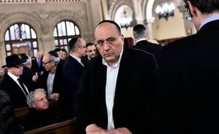 Julien Dray, vice-président (PS) de la région Ile-de-France, le 15 novembre 2015 à la synagogue de la Victoire à Paris