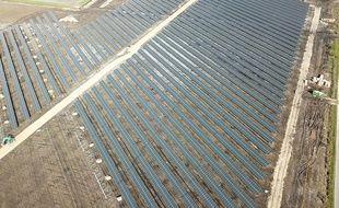 La centrale solaire de Saint-Magne en Gironde.