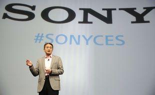 Kazuo Hirai, président de Sony, au CES, à Las Vegas, le 5 janvier 2015.