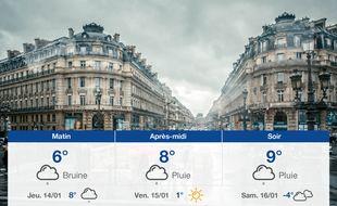Météo Paris: Prévisions du mercredi 13 janvier 2021