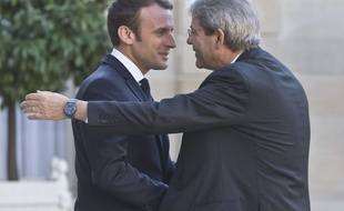 Emmanuel Macron et Paolo Gentiloni
