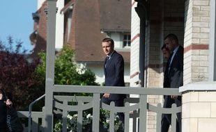 Emmanuel Macron dan sa résidence au Touquet.