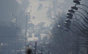 L'avenue d'Italie à Paris plongée dans la pollution, le 27 février 2019.