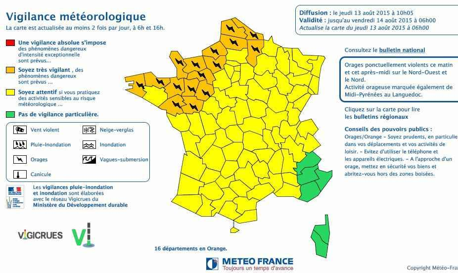 ouest france meteo