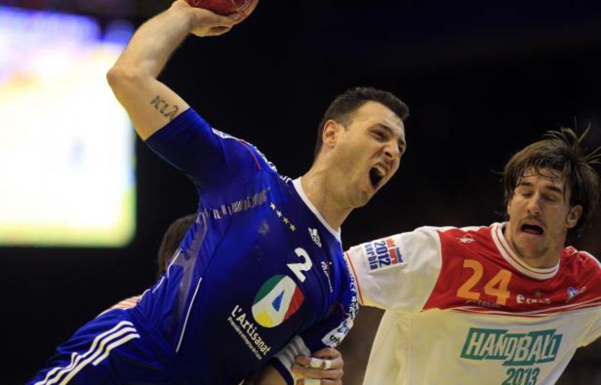Jérôme Fernandez, le 16 janvier 2012 à Novi-Sad contre l'Espagne. – L. Balogh / REUTERS