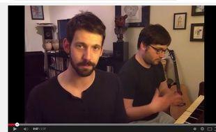 Capture d'écran youtube de la vidéo 29 Celebrity Impressions, 1 Original Song de Rob Cantor
