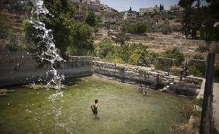 Des enfants palestiniens, le 17 juin 2012, dans le village de Battir en Cisjordanie