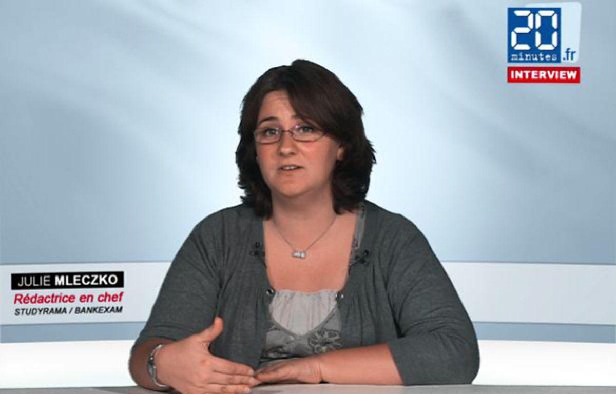 Julie Mleczko, rédactrice en chef de Studyrama, dans les locaux de 20 Minutes le 14 juin 2012.  – 20MINUTES.FR