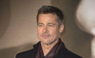 L'acteur Brad Pitt à Londres