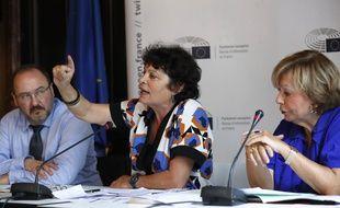 Paris, le 12 juillet 2017. Michèle Rivasi s'exprime au sujet de la vaccination obligatoire.