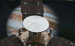 La sonde Juno en approche de Jupiter.