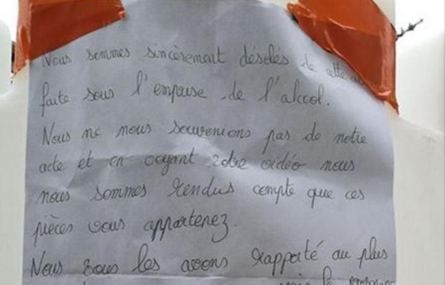 Les voleurs ont laissé un mot d'excuse en rapportant des objets volés à un hôtel de Courchevel en Savoie.