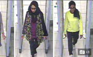 Les trois adolescentes sous l'oeil des caméras de surveillance de l'aéroport.