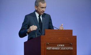 Le PDG d'LVMH Bernard Arnault à Pariss, le 2 février 2016