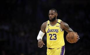 LeBron James sous le maillot des Lakers, le 11 mars 2020.