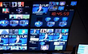 Une régie de télévision (illustration).