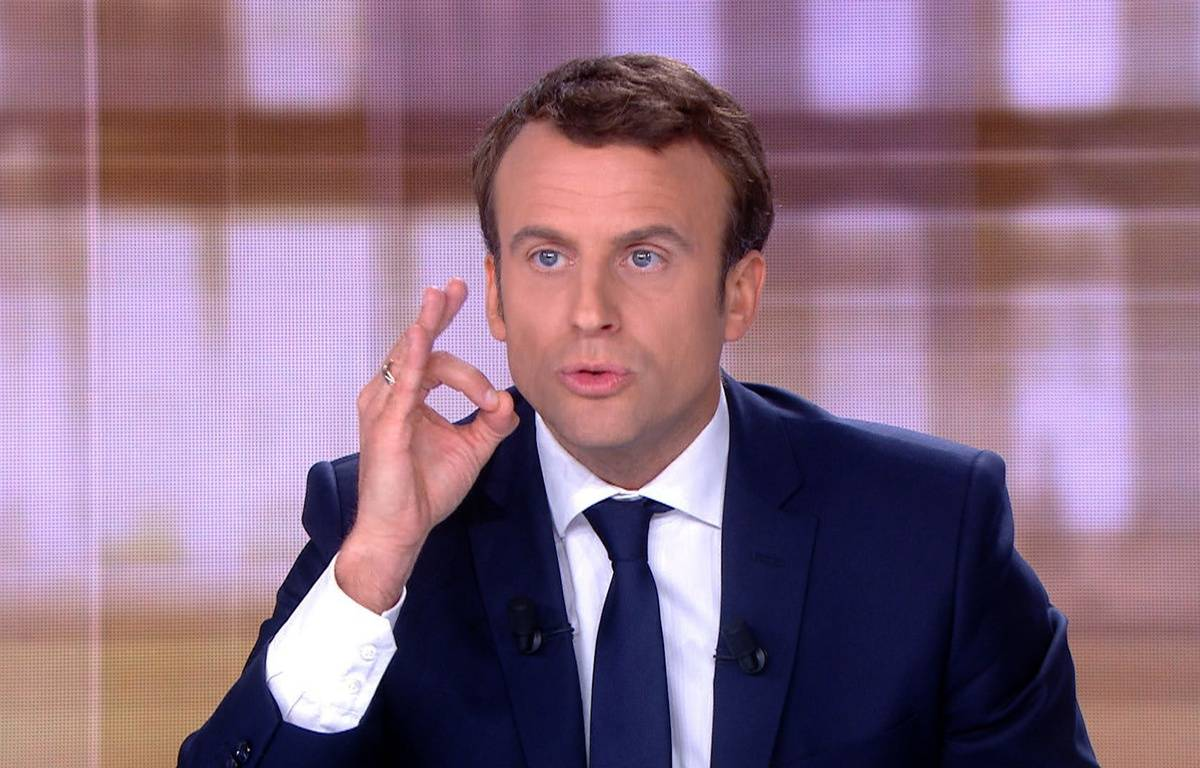 Le 3 mai 2017, Emmanuel Macron. AFP PHOTO /STRINGER – AFP