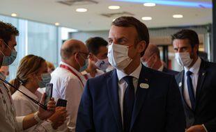 Emmanuel Macron  à Tokyo le 23 juillet 2021.