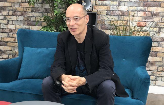 L'écrivain Bernard Werber à la rédaction de 20 Minutes, le 24 mai 2021.