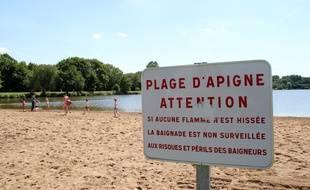 Illustration de la plage des étangs d'Apigné à Rennes.