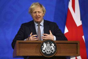 Boris Johnson le 31 mars 2021 à Londres.