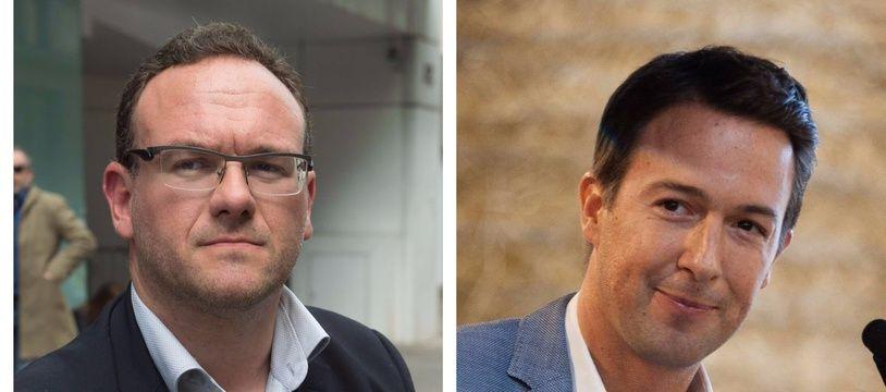 Collage 20 Minutes/Sipa des députés Les Républicains Damien Abad et Guillaume Peltier