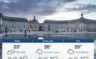 Météo Bordeaux: Prévisions du lundi 1 juillet 2019