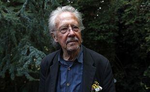 Peter Handke, Prix Nobel de littérature 2019, chez lui à Chaville le 10 octobre 2019.