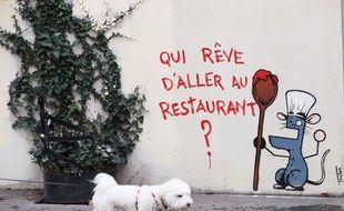 Un graffiti dans une rue de Paris, le 20 février 2021 (illustration).