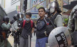 Des manifestants ce dimanche à Hong Kong.