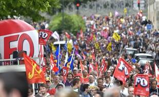 La manifestation de Nantes le 28 juin 2016 / AFP PHOTO / LOIC VENANCE