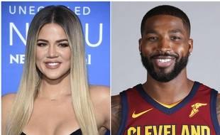 La star de la téléréalité, Khloe Kardashian et son compagnon, le joueur de Basketball, Tristan Thompson.