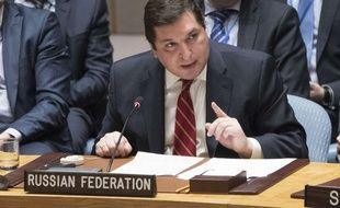 L'ambassadeur adjoint de la Russie aux Nations unies, Vladimir Safronkov, le 7 avril 2017.