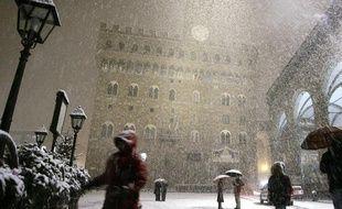 Florence (Toscane) sous la neige, le 12 décembre 2013.