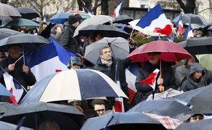 Supporters de François Fillon au Trocadéro à Paris, le 5 mars 2017 / THOMAS SAMSON