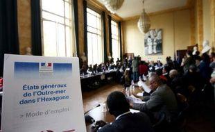 Le lancement des états généraux de l'outre-mer dans l'Hexagone, à Paris, le 22 avril 2009.