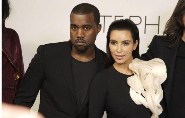 Kanye West et KimKardashian le 3juillet 2012.