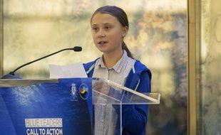 La jeune activiste du climat Greta Thunberg le 25 septembre 2019 à New York.