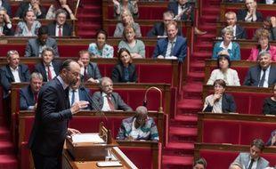 Edouard Philippe, hier à l'Assemblée nationale.