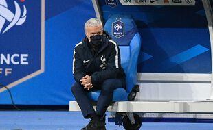 Didier Deschamps lors de France-Ukraine le 24 mars 2021.