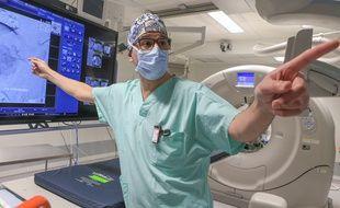 1501-STR-Plateforme d'imagerie multimodale 4 D . Professeur Afshin Gangi au Nouvel hôpital civil de Strasbourg.