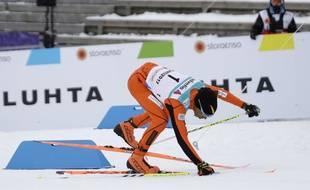 Le skieur argentin Adrian Solano a connu un parcours difficile aux championnats de ski de fond en Finlande